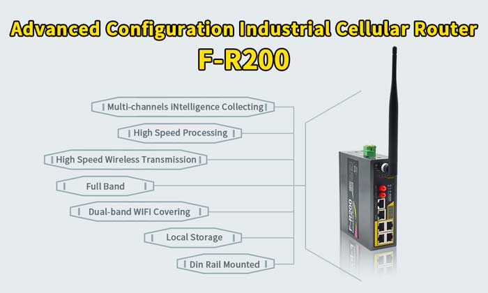 Industrial Cellular Wireless Router F-R200