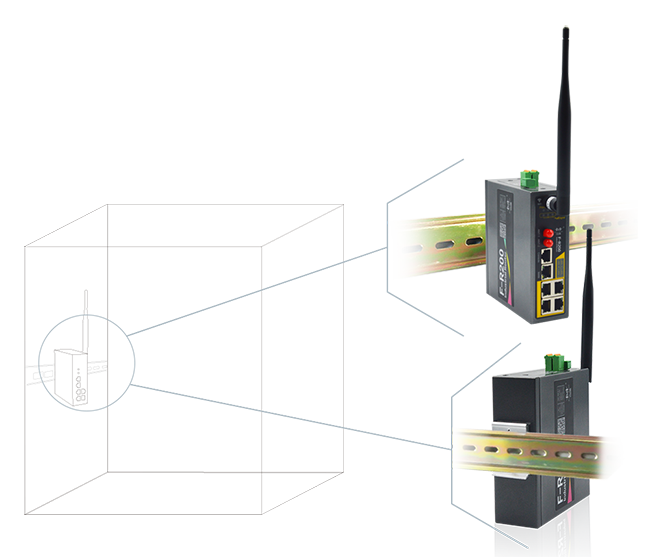 Din Rail Mounted, convenient operation